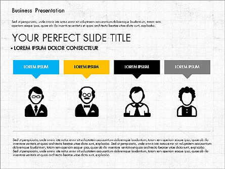 Company Profile Presentation in Flat Design, Slide 2, 03330, Presentation Templates — PoweredTemplate.com