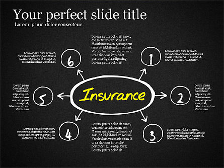Insurance Process Diagram, Slide 15, 03332, Business Models — PoweredTemplate.com
