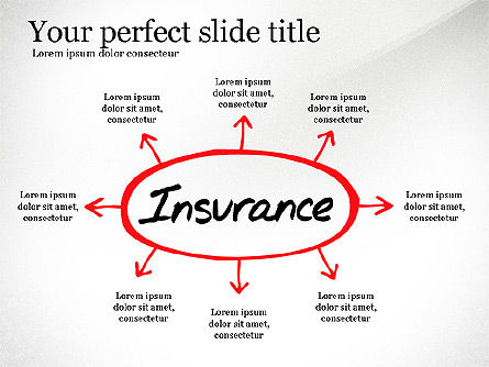 Insurance Process Diagram, Slide 3, 03332, Business Models — PoweredTemplate.com