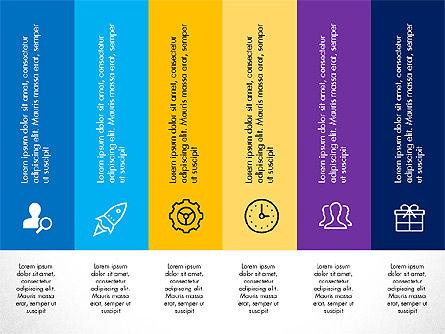 Stage Diagrams: Diseño de cuadrícula con iconos Presentación en diseño plano #03333
