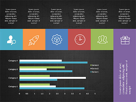 Grid Layout with Icons Presentation in Flat Design, Slide 12, 03333, Stage Diagrams — PoweredTemplate.com