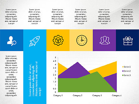 Grid Layout with Icons Presentation in Flat Design, Slide 7, 03333, Stage Diagrams — PoweredTemplate.com