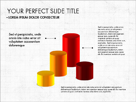 Presentation with 3D Shapes Toolbox, 03334, Shapes — PoweredTemplate.com