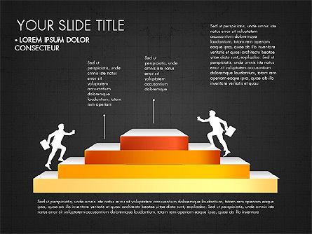 Steps Success Winner, Slide 15, 03336, Stage Diagrams — PoweredTemplate.com
