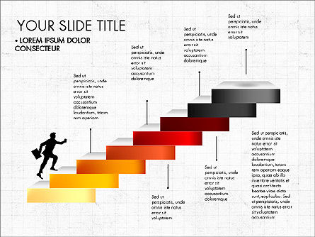 Steps Success Winner, Slide 4, 03336, Stage Diagrams — PoweredTemplate.com