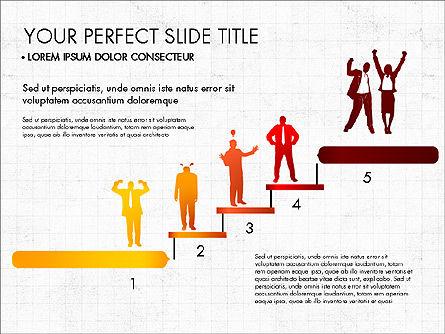 Steps Success Winner, Slide 6, 03336, Stage Diagrams — PoweredTemplate.com