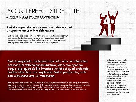 Steps Success Winner, Slide 8, 03336, Stage Diagrams — PoweredTemplate.com