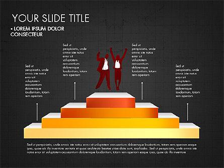 Steps Success Winner, Slide 9, 03336, Stage Diagrams — PoweredTemplate.com