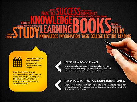 Training Word Cloud Presentation Concept, Slide 10, 03338, Education Charts and Diagrams — PoweredTemplate.com