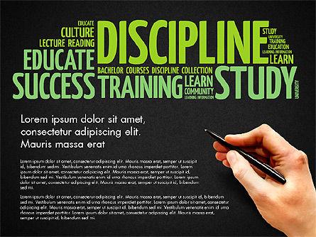 Training Word Cloud Presentation Concept, Slide 12, 03338, Education Charts and Diagrams — PoweredTemplate.com