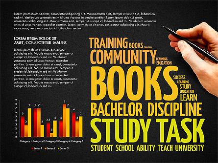 Training Word Cloud Presentation Concept, Slide 13, 03338, Education Charts and Diagrams — PoweredTemplate.com
