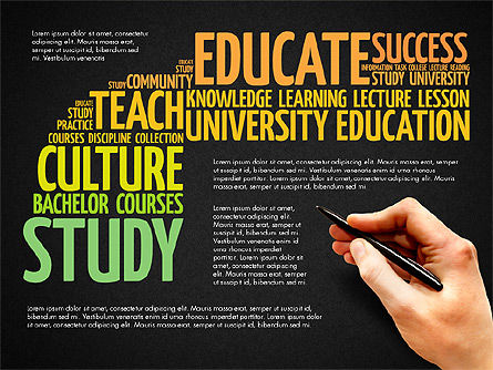 Training Word Cloud Presentation Concept, Slide 16, 03338, Education Charts and Diagrams — PoweredTemplate.com