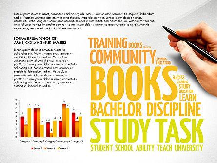 Training Word Cloud Presentation Concept, Slide 5, 03338, Education Charts and Diagrams — PoweredTemplate.com