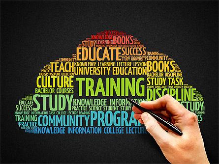 Training Word Cloud Presentation Concept, Slide 9, 03338, Education Charts and Diagrams — PoweredTemplate.com