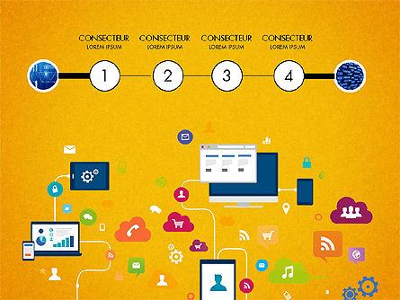 Data Driven Report with Timeline, Slide 6, 03342, Presentation Templates — PoweredTemplate.com