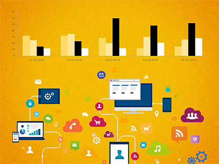 Data Driven Report with Timeline, Slide 7, 03342, Presentation Templates — PoweredTemplate.com