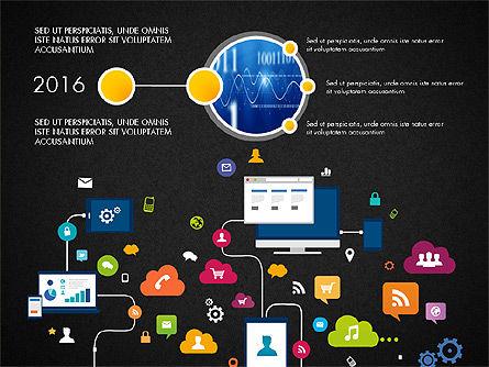 Data Driven Report with Timeline, Slide 9, 03342, Presentation Templates — PoweredTemplate.com