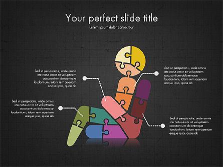 Shapes from Puzzle Pieces, Slide 10, 03344, Puzzle Diagrams — PoweredTemplate.com