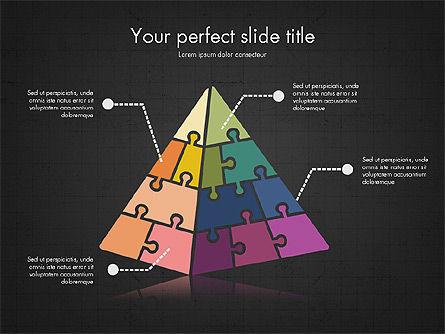 Shapes from Puzzle Pieces, Slide 13, 03344, Puzzle Diagrams — PoweredTemplate.com