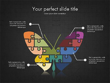 Shapes from Puzzle Pieces, Slide 14, 03344, Puzzle Diagrams — PoweredTemplate.com