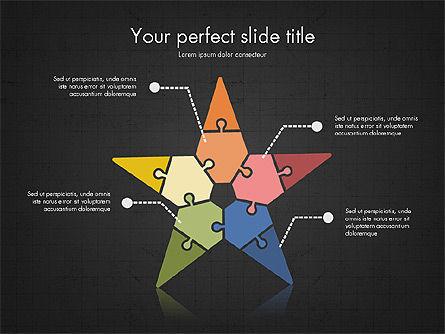 Shapes from Puzzle Pieces, Slide 16, 03344, Puzzle Diagrams — PoweredTemplate.com