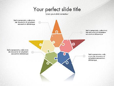 Shapes from Puzzle Pieces, Slide 8, 03344, Puzzle Diagrams — PoweredTemplate.com