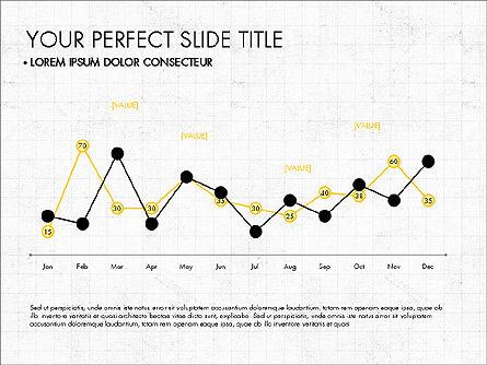 Data Driven Charts Collection, Slide 7, 03345, Graph Charts — PoweredTemplate.com