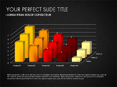 Data Driven Charts Collection, Slide 9, 03345, Graph Charts — PoweredTemplate.com