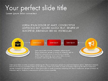 Process and Icons, Slide 11, 03347, Process Diagrams — PoweredTemplate.com
