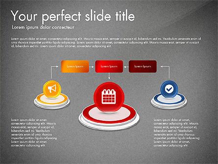 Process and Icons, Slide 12, 03347, Process Diagrams — PoweredTemplate.com