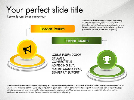 Process and Icons, Slide 2, 03347, Process Diagrams — PoweredTemplate.com