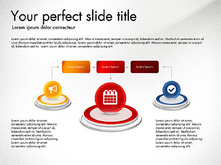 Process and Icons, Slide 4, 03347, Process Diagrams — PoweredTemplate.com