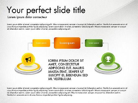 Process and Icons, Slide 5, 03347, Process Diagrams — PoweredTemplate.com