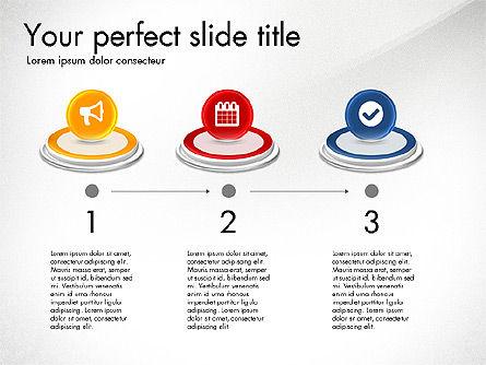 Process and Icons, Slide 6, 03347, Process Diagrams — PoweredTemplate.com