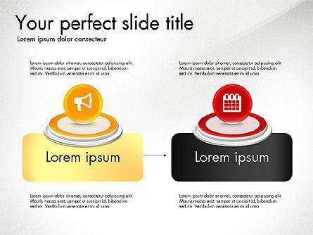 Process and Icons, Slide 8, 03347, Process Diagrams — PoweredTemplate.com