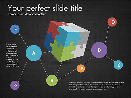 Presentation with Colorful 3D Shapes, Slide 16, 03348, Presentation Templates — PoweredTemplate.com