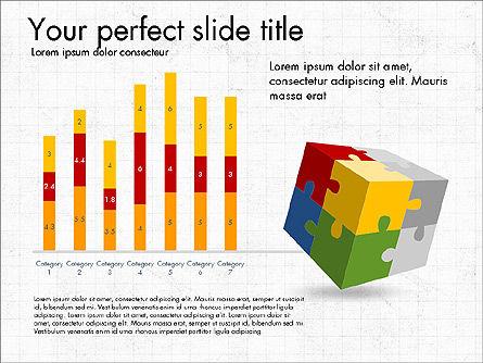 Presentation with Colorful 3D Shapes, Slide 2, 03348, Presentation Templates — PoweredTemplate.com