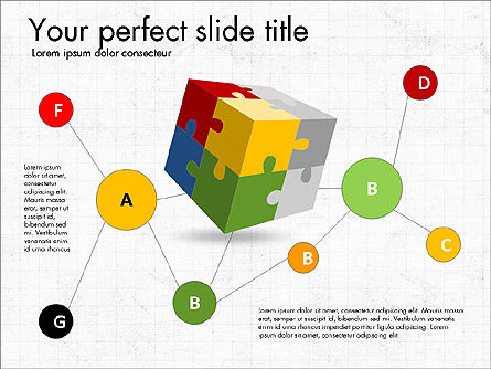 Presentation with Colorful 3D Shapes, Slide 8, 03348, Presentation Templates — PoweredTemplate.com