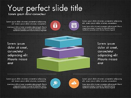 Presentation with Colorful 3D Shapes, Slide 9, 03348, Presentation Templates — PoweredTemplate.com