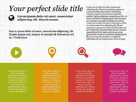 Flat Designed Creative Presentation Template, Slide 3, 03349, Presentation Templates — PoweredTemplate.com