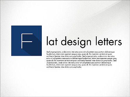 Letters in Material Design Style, 03351, Shapes — PoweredTemplate.com