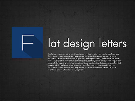 Letters in Material Design Style, Slide 9, 03351, Shapes — PoweredTemplate.com