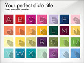 Letters in Material Design Style#8