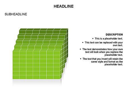 3D Cubes Toolbox, Slide 11, 03354, Shapes — PoweredTemplate.com