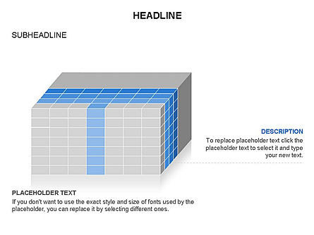 3D Cubes Toolbox, Slide 13, 03354, Shapes — PoweredTemplate.com