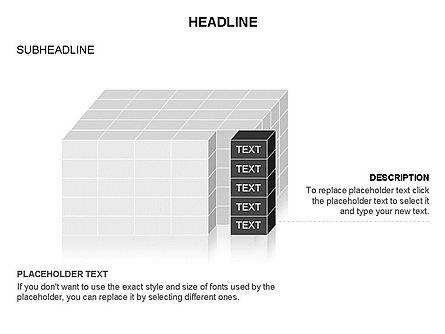 3D Cubes Toolbox, Slide 21, 03354, Shapes — PoweredTemplate.com