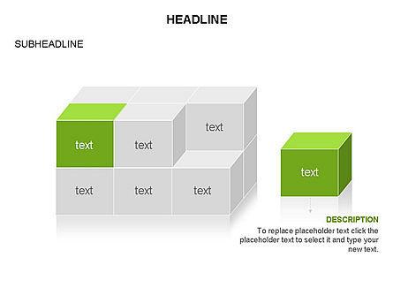 3D Cubes Toolbox, Slide 23, 03354, Shapes — PoweredTemplate.com