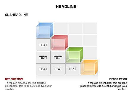 3D Cubes Toolbox, Slide 27, 03354, Shapes — PoweredTemplate.com
