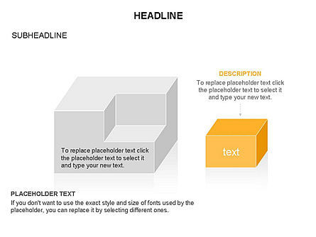 3D Cubes Toolbox, Slide 28, 03354, Shapes — PoweredTemplate.com