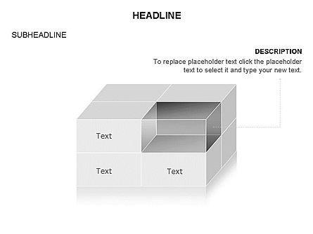 3D Cubes Toolbox, Slide 5, 03354, Shapes — PoweredTemplate.com